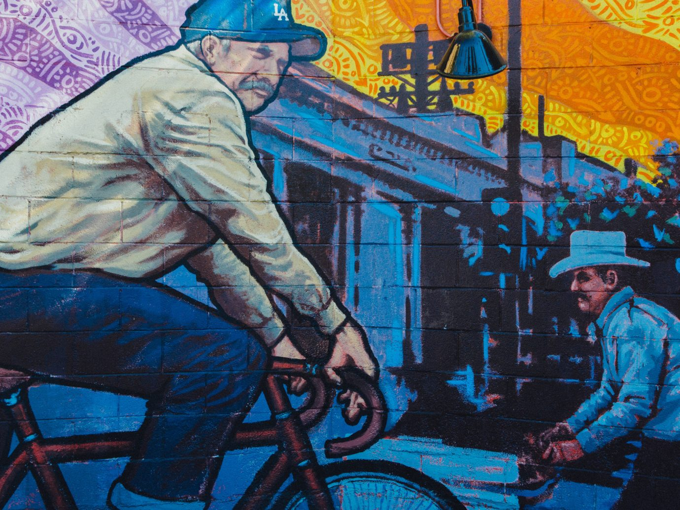 Food + Drink person outdoor mural comic book art comics screenshot illustration painting