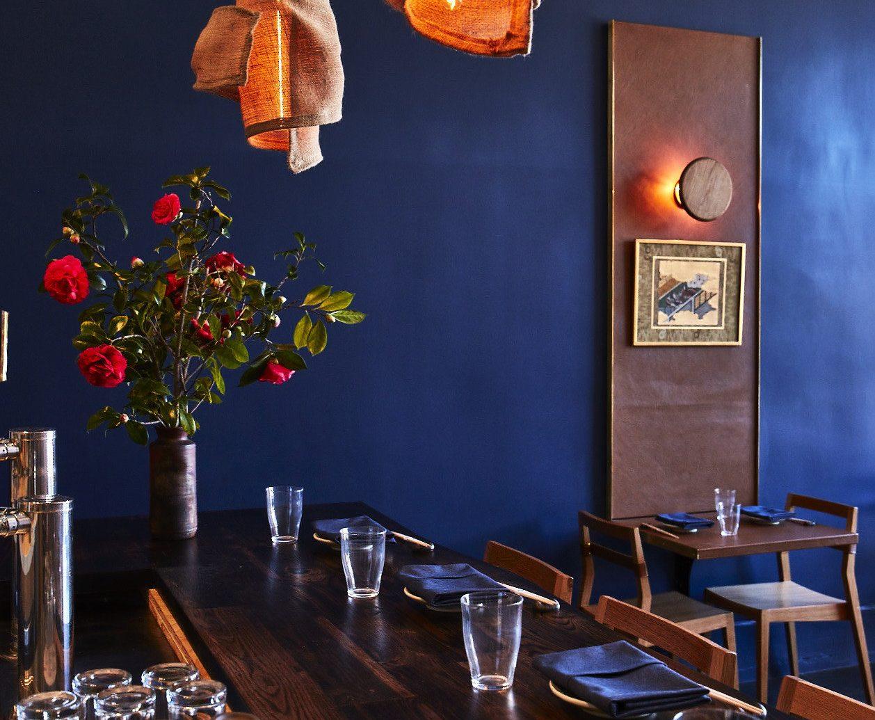 table indoor man made object room restaurant Bar lighting dining room interior design furniture several