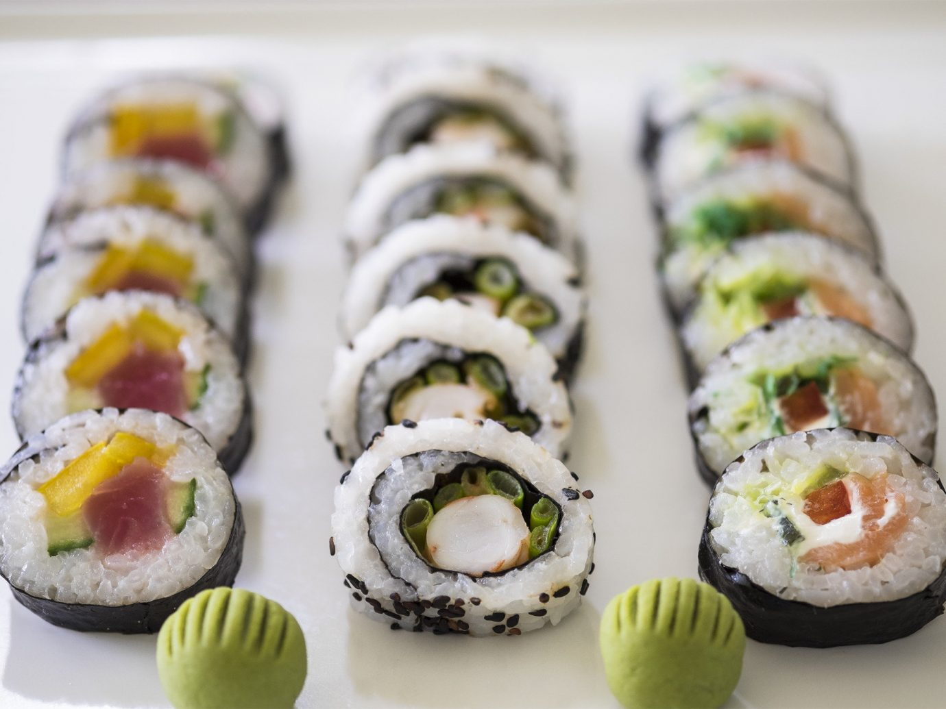 Trip Ideas dish sushi food indoor gimbap cuisine asian food california roll meal hors d oeuvre produce japanese cuisine decorated