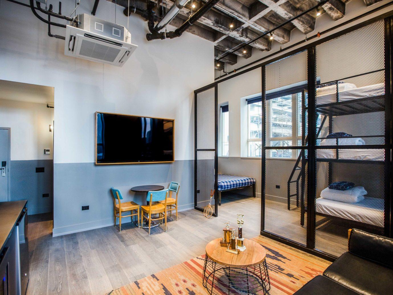 Trip Ideas indoor floor wall room Living interior design ceiling real estate loft living room apartment furniture area
