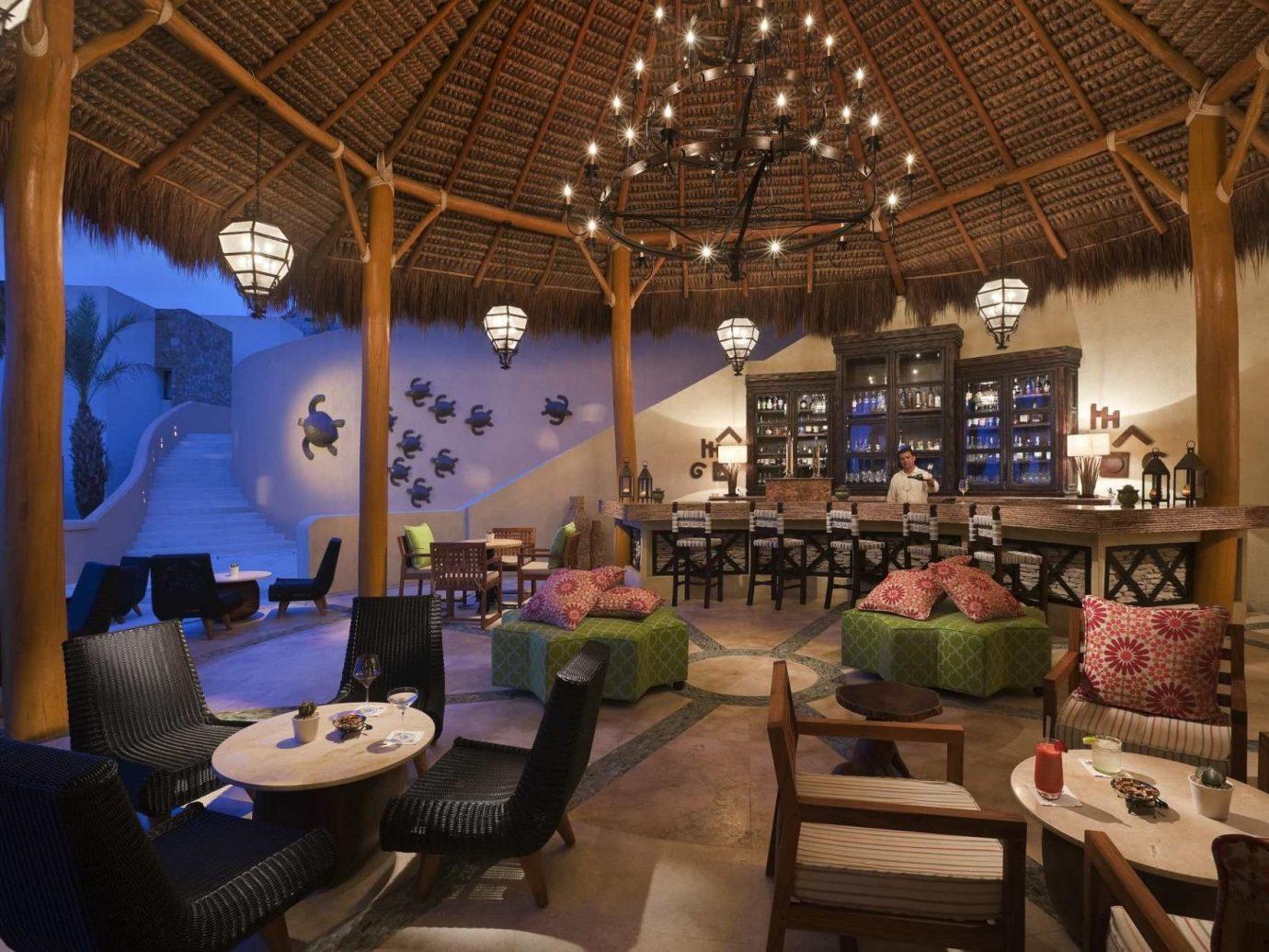 Beach Honeymoon Hotels Mexico Romance Tulum indoor chair interior design restaurant furniture café living room area several