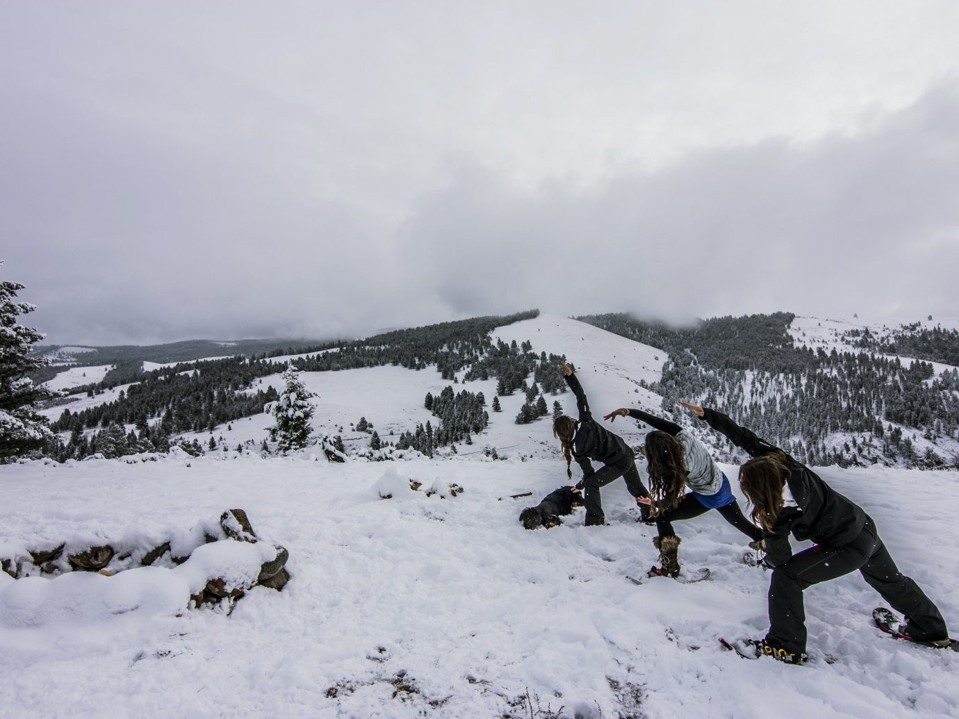 Health + Wellness Spa Retreats Trip Ideas snow outdoor sky Winter weather footwear geological phenomenon Nature season mountain skiing snowshoe hill winter sport slope ski slope day