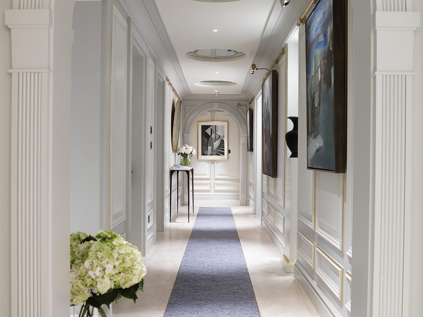Hotels London Luxury Travel indoor wall floor building property room estate home Architecture mansion hall interior design ceiling arch living room real estate Design furniture