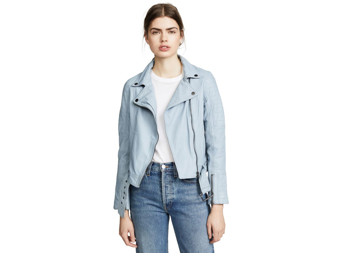 Packing Tips Style + Design Travel Shop person clothing standing jacket posing denim wearing shoulder fashion model jeans leather jacket smiling outerwear coat sleeve material leather trouser