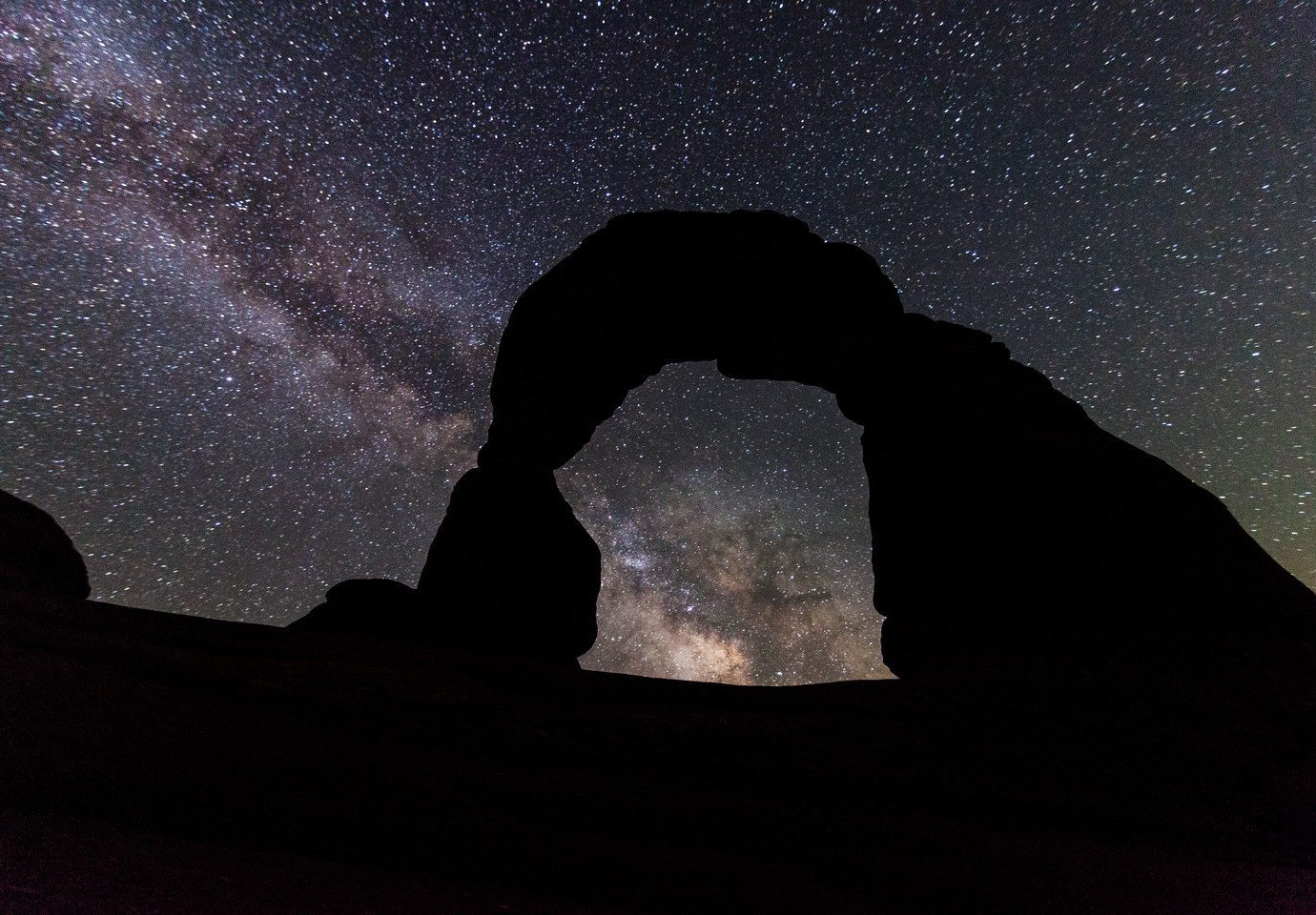 National Parks Outdoors + Adventure Trip Ideas dark darkness night atmosphere mountain astronomical object astronomy moon moonlight galaxy star outer space space Night Sky silhouette