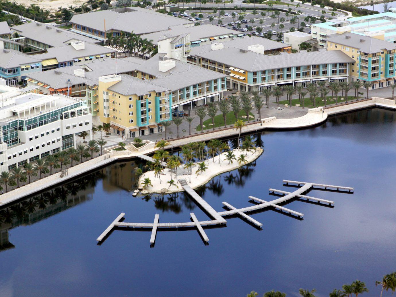 Trip Ideas marina outdoor dock aerial photography bird's eye view residential area bridge River cityscape reflection urban design port