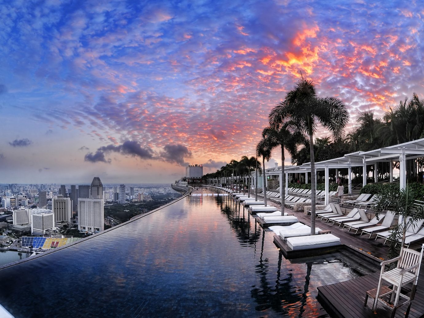 Travel Tips outdoor sky water reflection cityscape evening morning Sunset dusk waterway dock marina Sea skyline clouds several