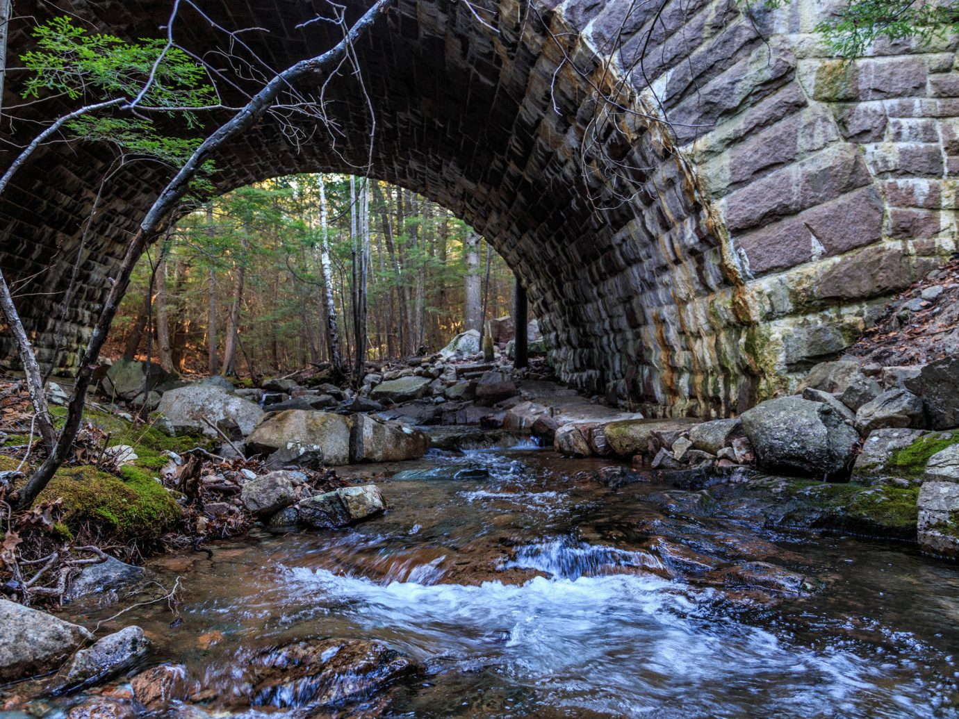 Beach brick wall bridge Forest moss National Parks Natural wonders Nature ripple River Road Trips Rocks stream Trip Ideas Waterfall woods outdoor rock water building stone arch water feature autumn