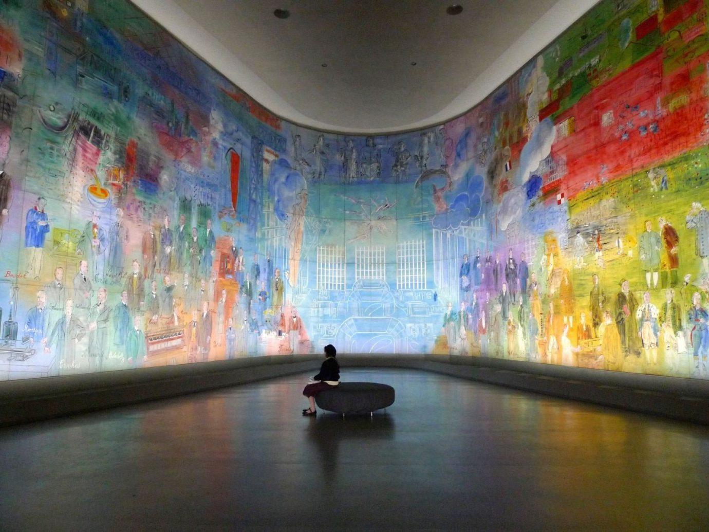 Interior of Paris Museum of Modern Art