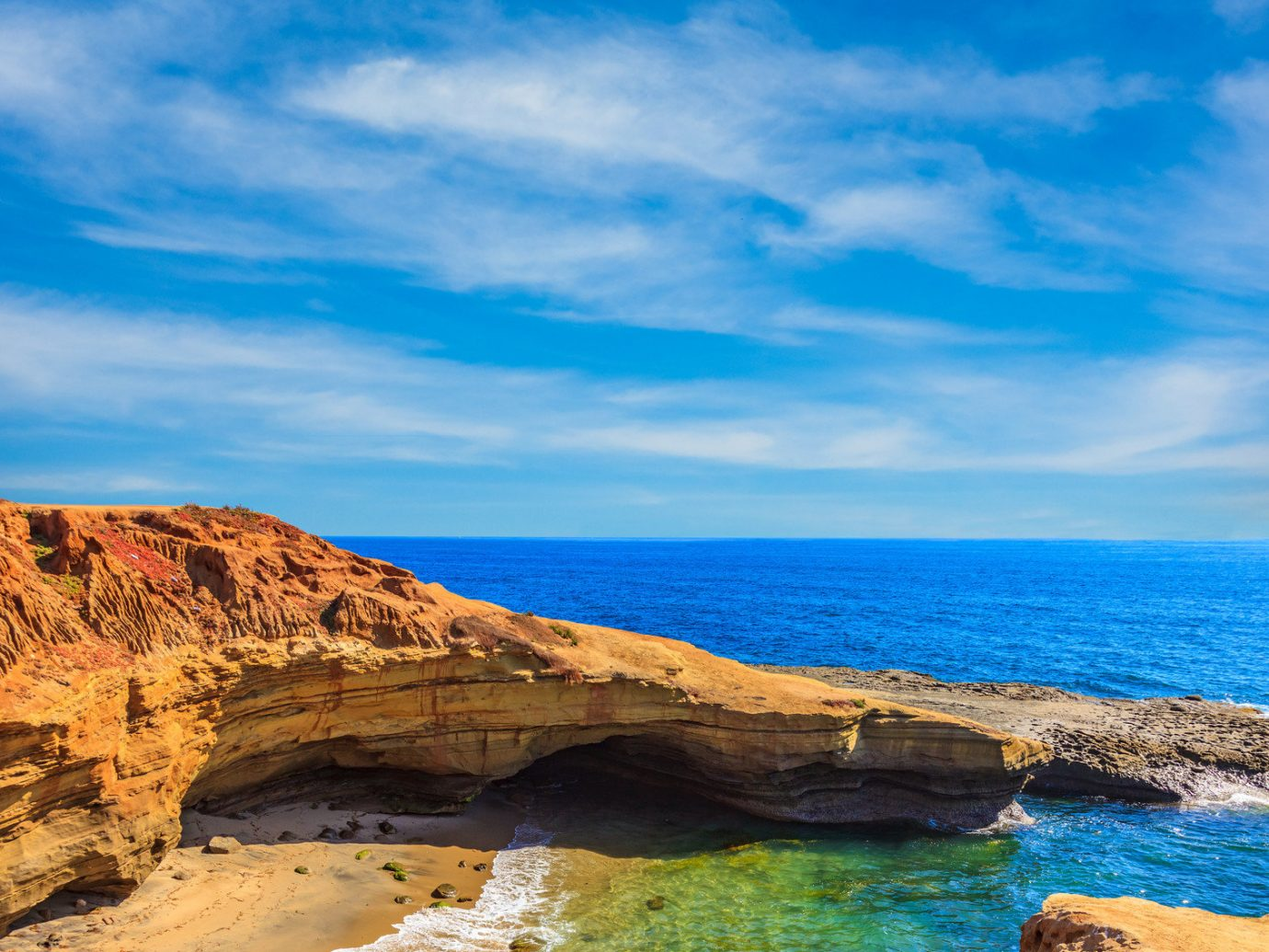 Trip Ideas sky outdoor water rock Nature Coast shore Sea body of water mountain geographical feature landform Beach Ocean cloud canyon valley horizon cliff vacation bay landscape rocky loch cove cape terrain sand wave material