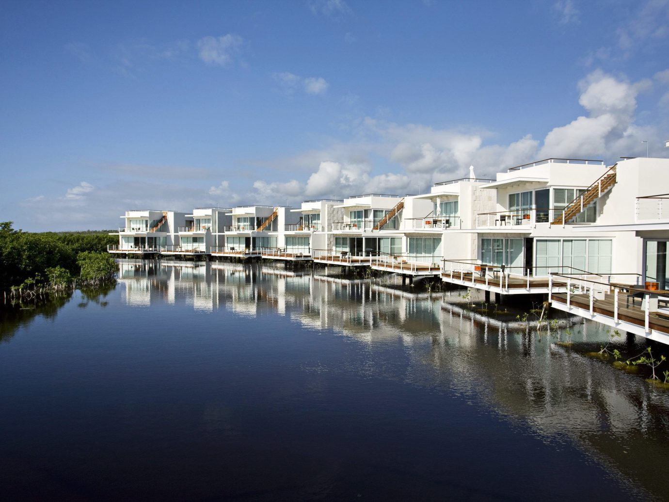 Adult-only All-inclusive Grounds Hotels Luxury Wellness sky outdoor water reflection Boat scene River marina dock Sea waterway Harbor Coast bay cityscape traveling day