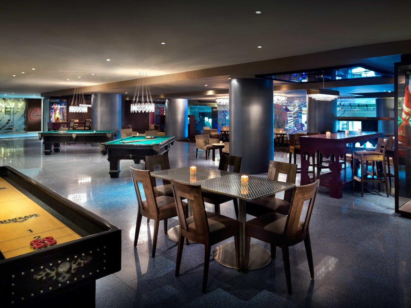 All-Inclusive Resorts Entertainment Family Travel Hotels Modern Party Resort indoor ceiling floor table room chair recreation room Bar Dining interior design nightclub estate restaurant area furniture