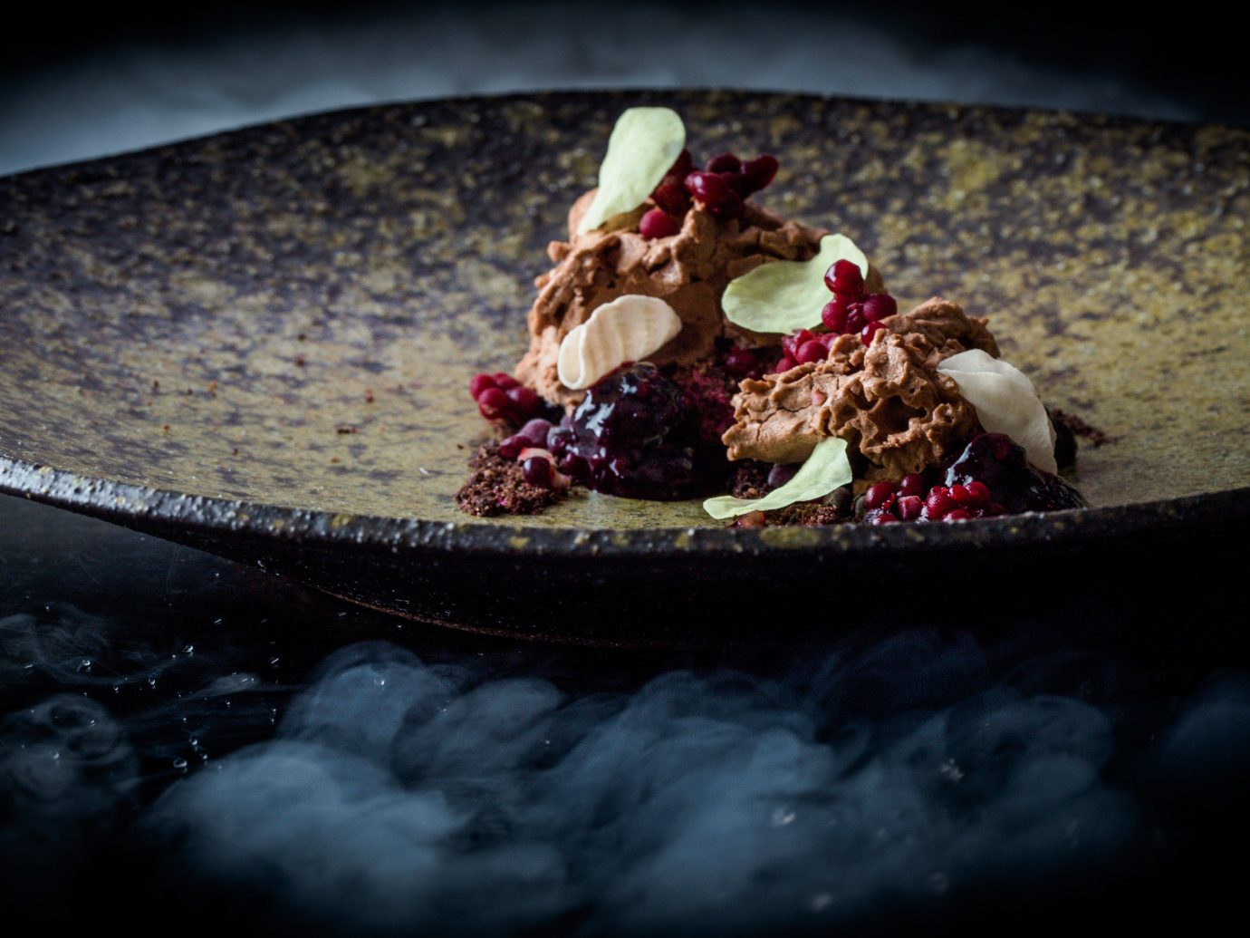 Food + Drink indoor food photography macro photography produce flower dark dessert