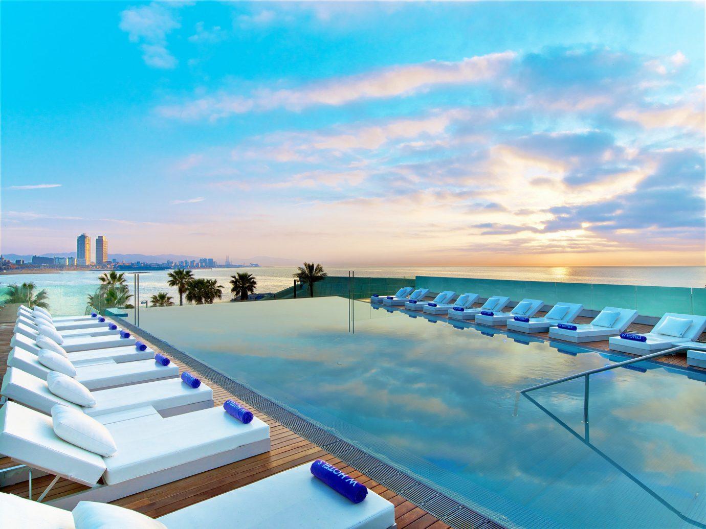 Hotels sky swimming pool leisure vacation caribbean Resort Ocean Sea row estate line lined