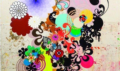 Jetsetter Guides font art modern art pattern Design circle psychedelic art illustration child art graphic design drawing
