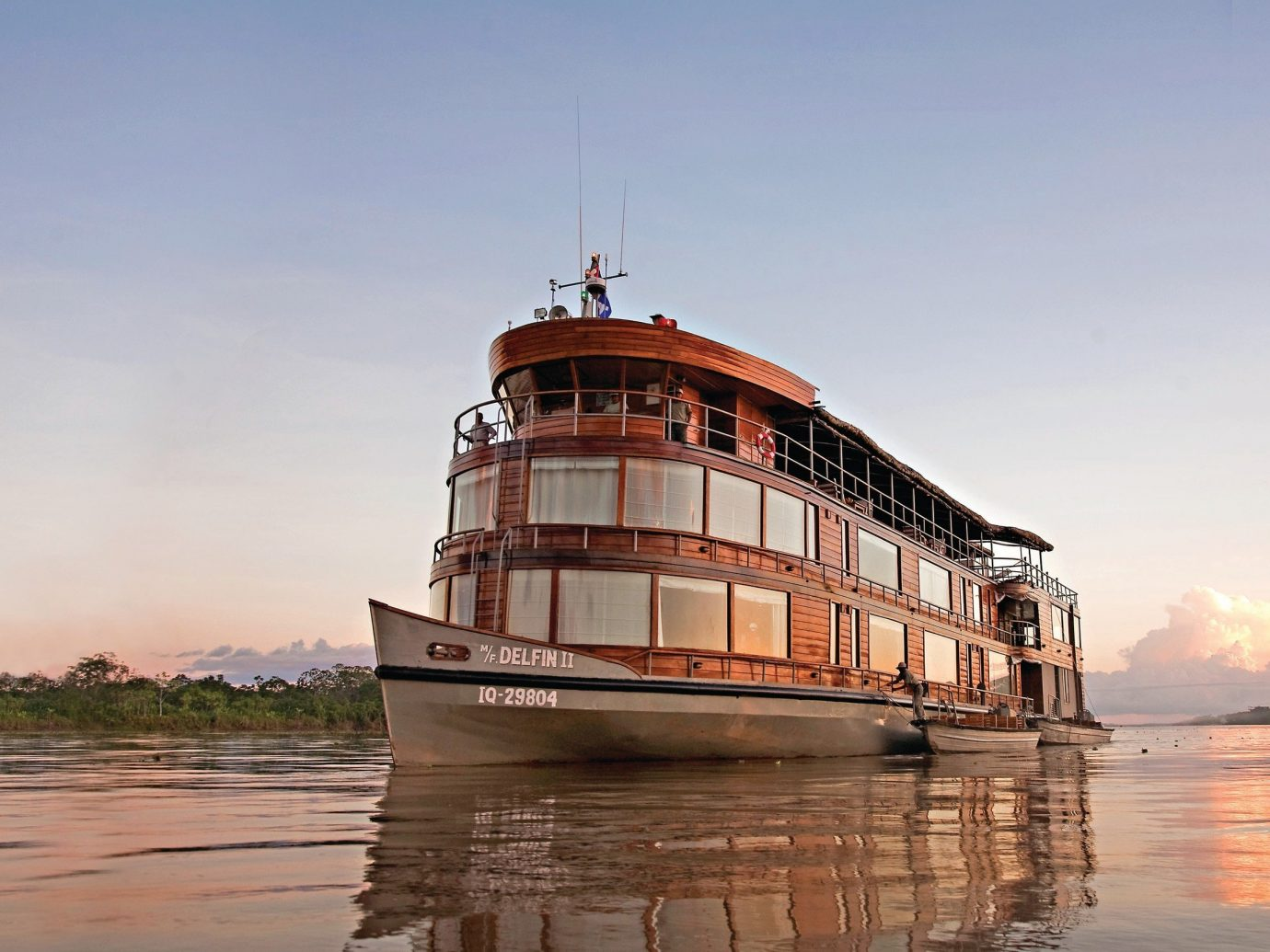 Trip Ideas water outdoor sky Boat vehicle Sea River watercraft reflection ship waterway tower ferry Coast Harbor passenger ship bay traveling