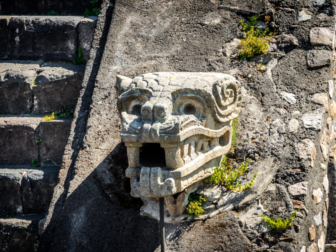 Arts + Culture Mexico City Travel Tips Trip Ideas archaeological site Ruins ancient history stone carving sculpture carving temple rock history grass landscape