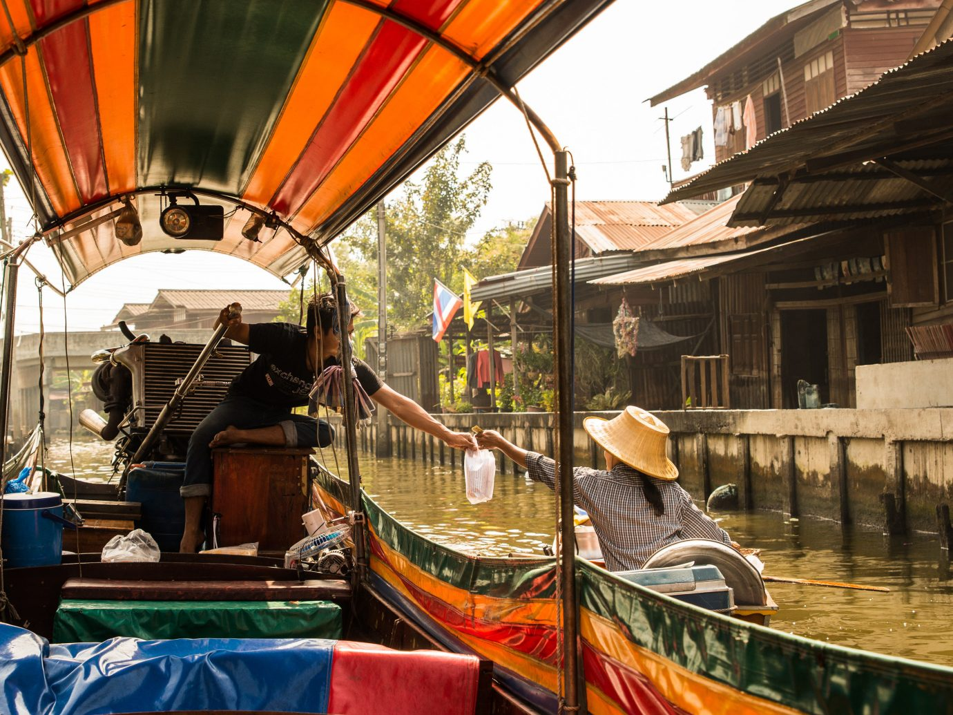 Travel Tech Travel Tips building outdoor Boat vehicle tourism waterway travel market colorful