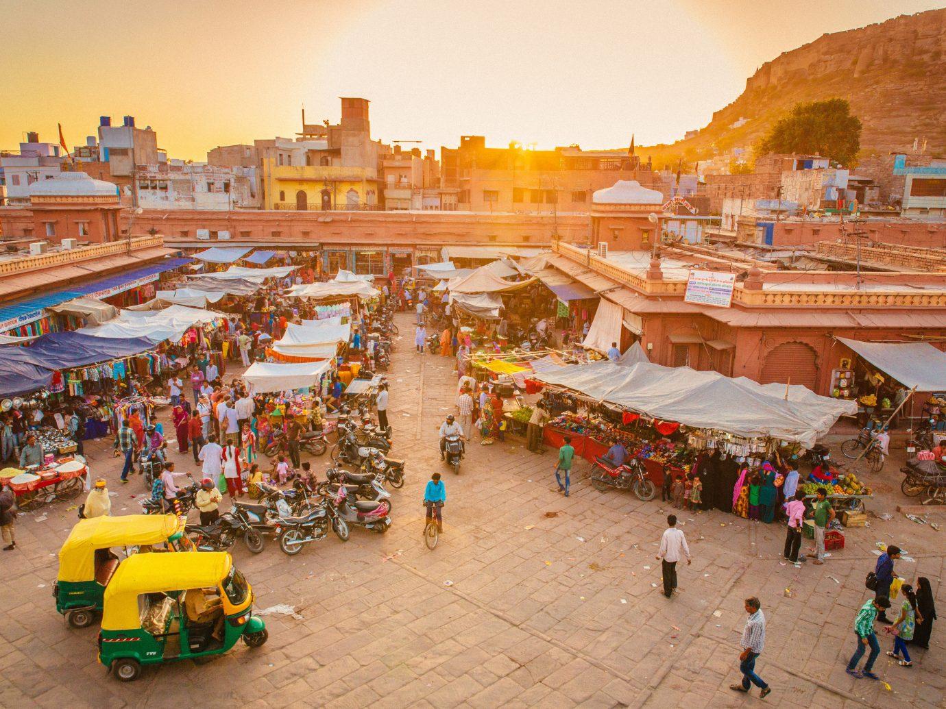India Jaipur Jodhpur Trip Ideas sky ground toy outdoor City tourism marketplace people group recreation fair leisure sand market several