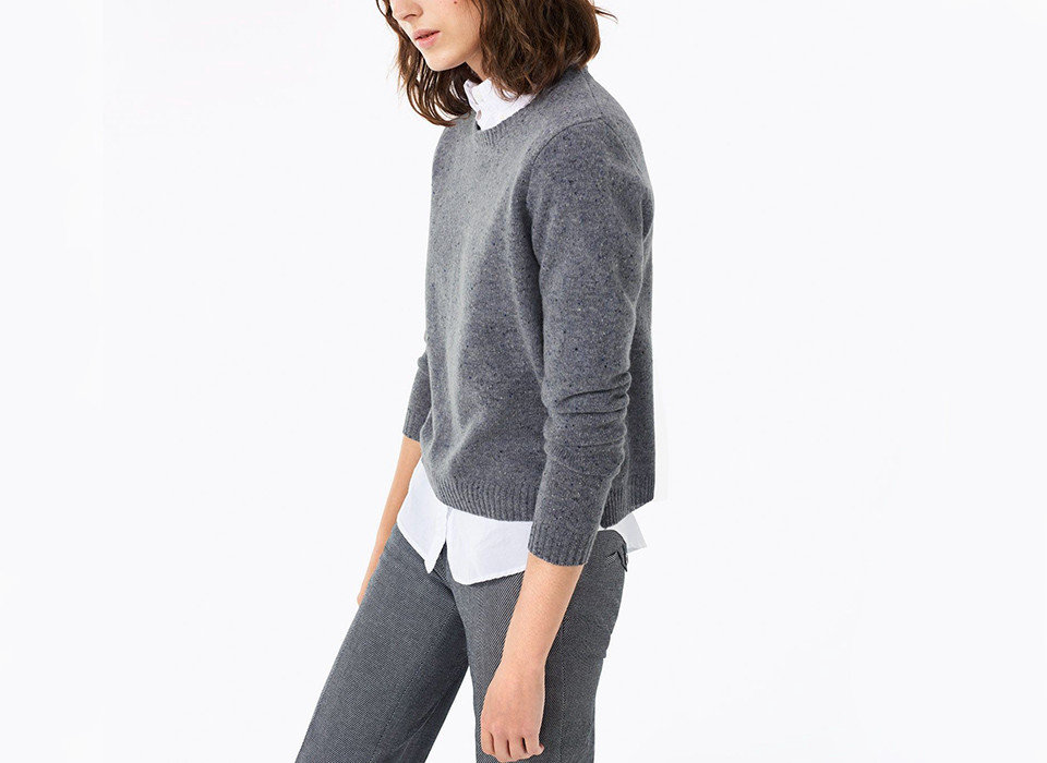 Style + Design person clothing wearing neck sleeve outerwear suit sweater cardigan woolen posing trouser
