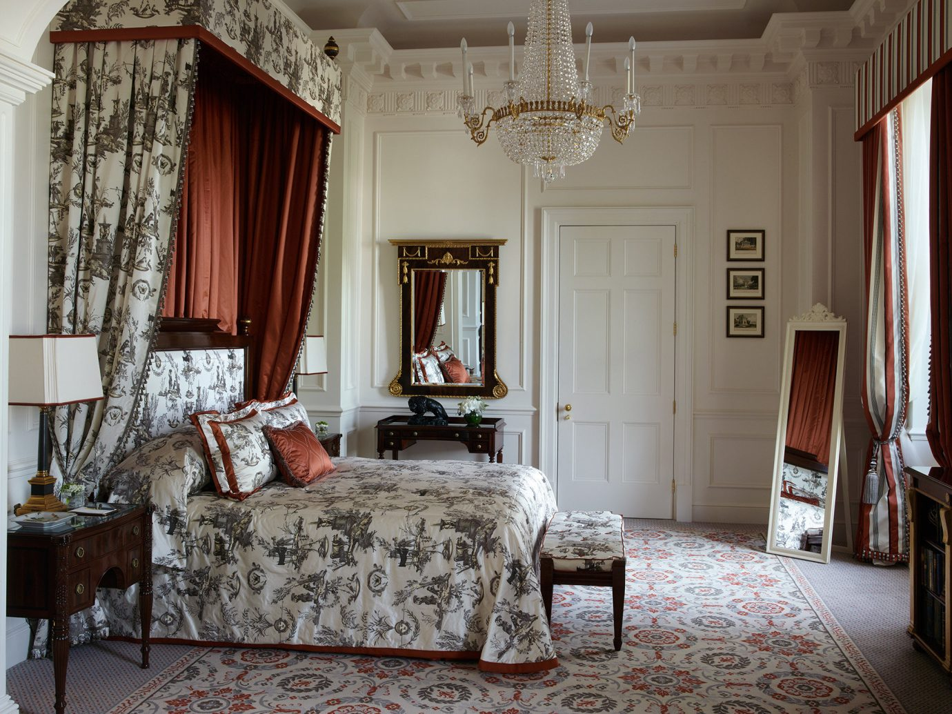 Boutique Hotels Celebs Hotels London Luxury Travel Romance Trip Ideas Winter indoor room floor wall Bedroom interior design home furniture window living room window treatment bed frame Living textile estate curtain bed four poster window covering Suite ceiling house real estate bed sheet flooring decor decorated