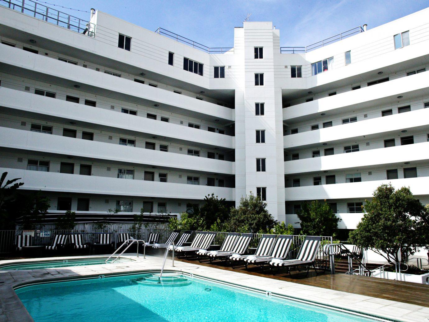 Exterior Hotels Modern Pool outdoor building condominium property plaza Resort estate real estate residential area facade apartment