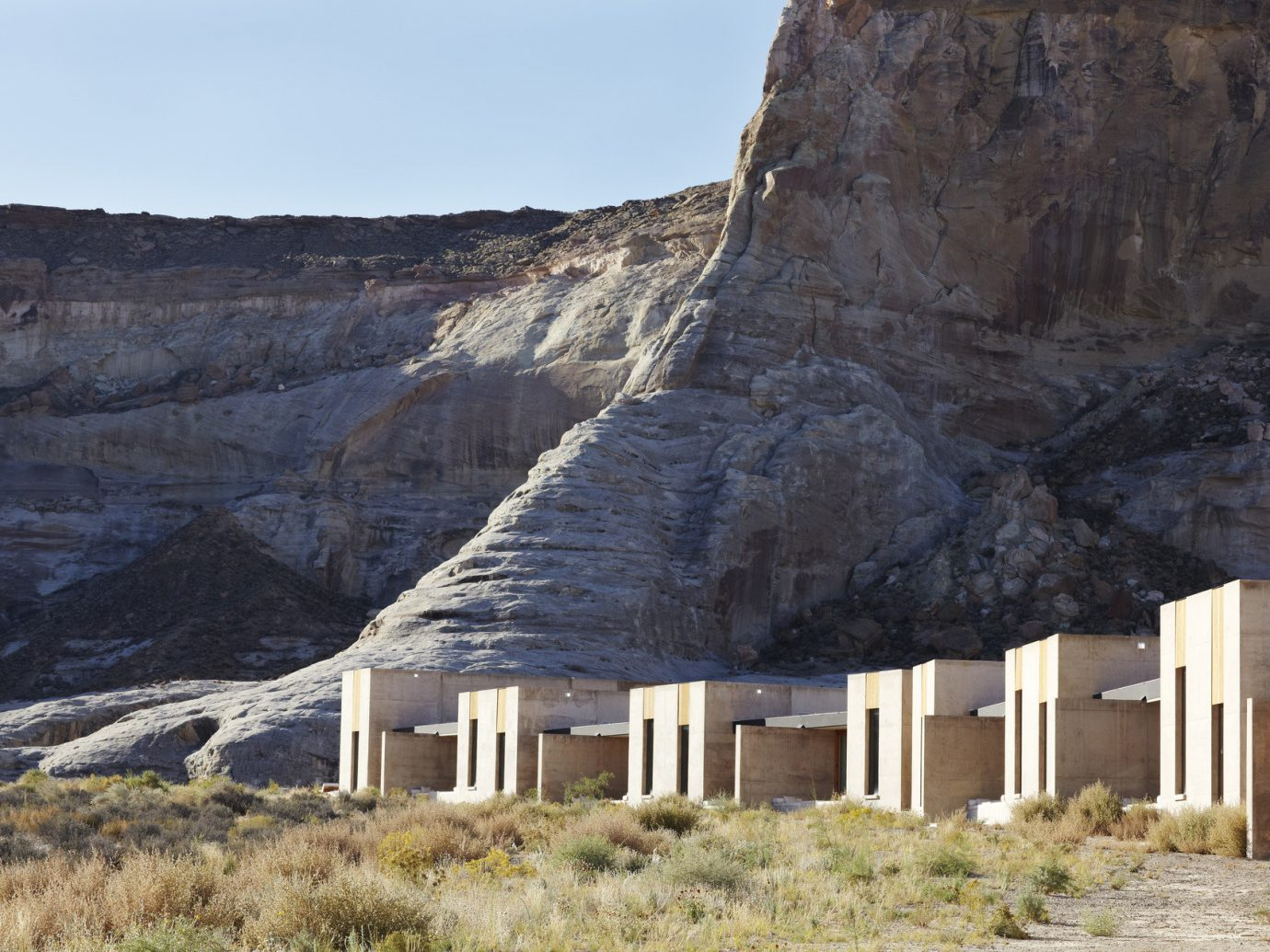Hotels mountain grass outdoor Nature sky valley rock cliff badlands canyon geology terrain landscape quarry hut material stone hillside