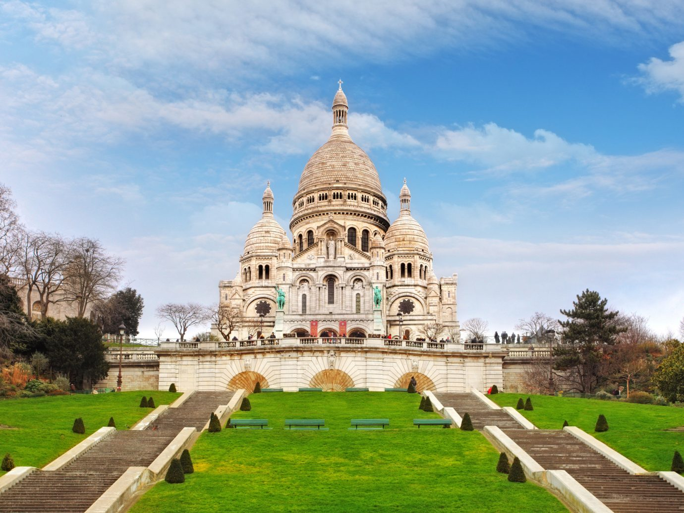 Trip Ideas grass outdoor sky tree building historic site landmark green grassy stately home château estate place of worship palace tourism Church park monastery cathedral Garden old stone lush