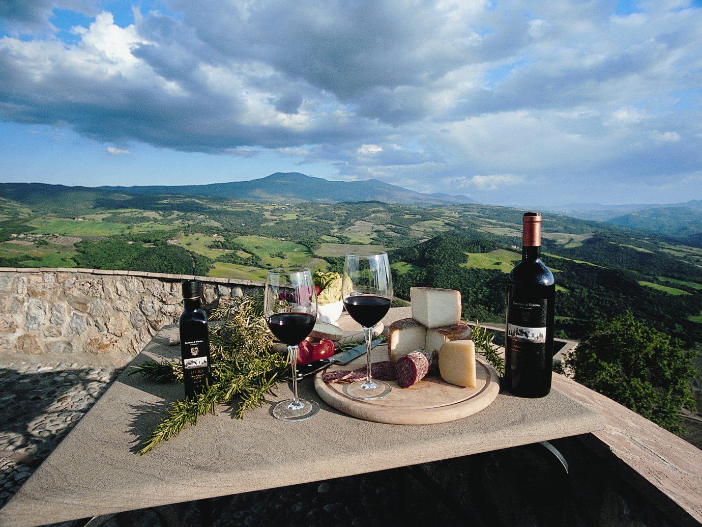 Country Drink Grounds Honeymoon Italy Luxury Romance Romantic Scenic views Trip Ideas sky mountain outdoor ground vacation tourism mountain range estate travel overlooking stone