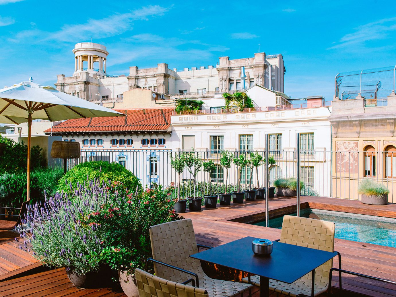 Barcelona Boutique Boutique Hotels City Deck Hip Hotels Luxury Modern Pool Rooftop Spain outdoor sky property estate Resort building vacation home swimming pool palace Villa mansion real estate condominium walkway hacienda plaza outdoor structure Garden furniture stone
