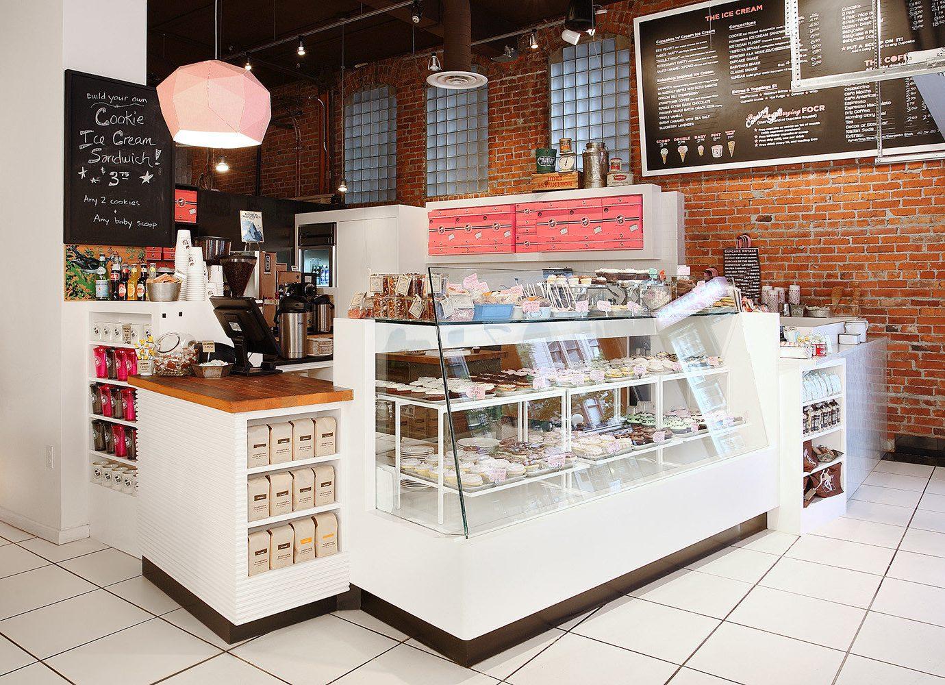 Food + Drink indoor floor retail brand interior design Design