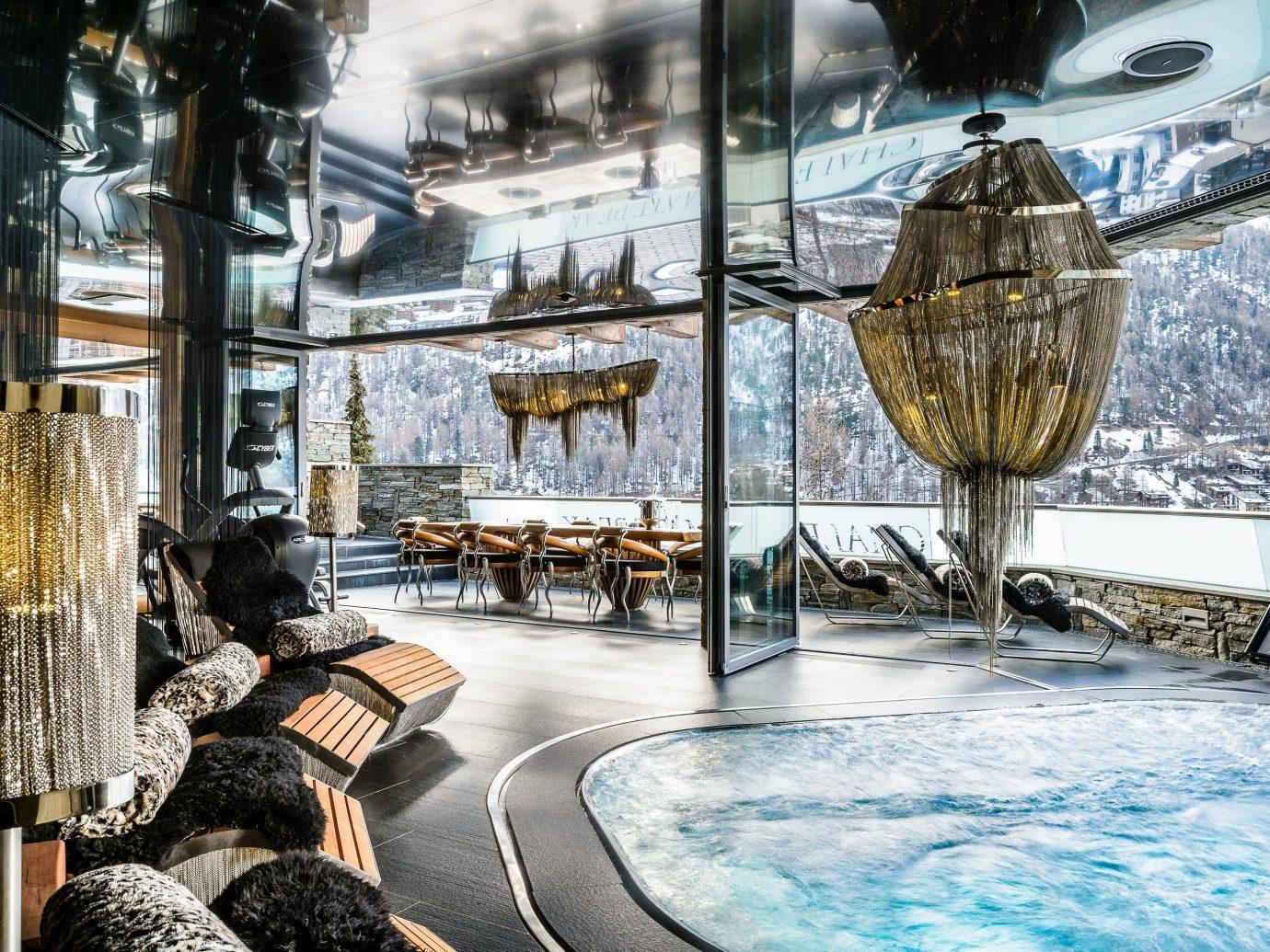 Hotels Luxury Travel Mountains + Skiing Trip Ideas indoor art screenshot vehicle Design