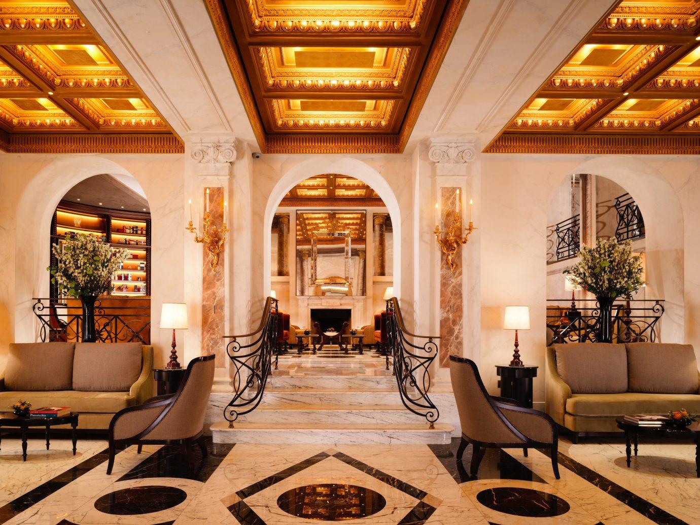 Boutique Hotels Hotels indoor room Lobby ceiling interior design living room Living estate flooring furniture decorated