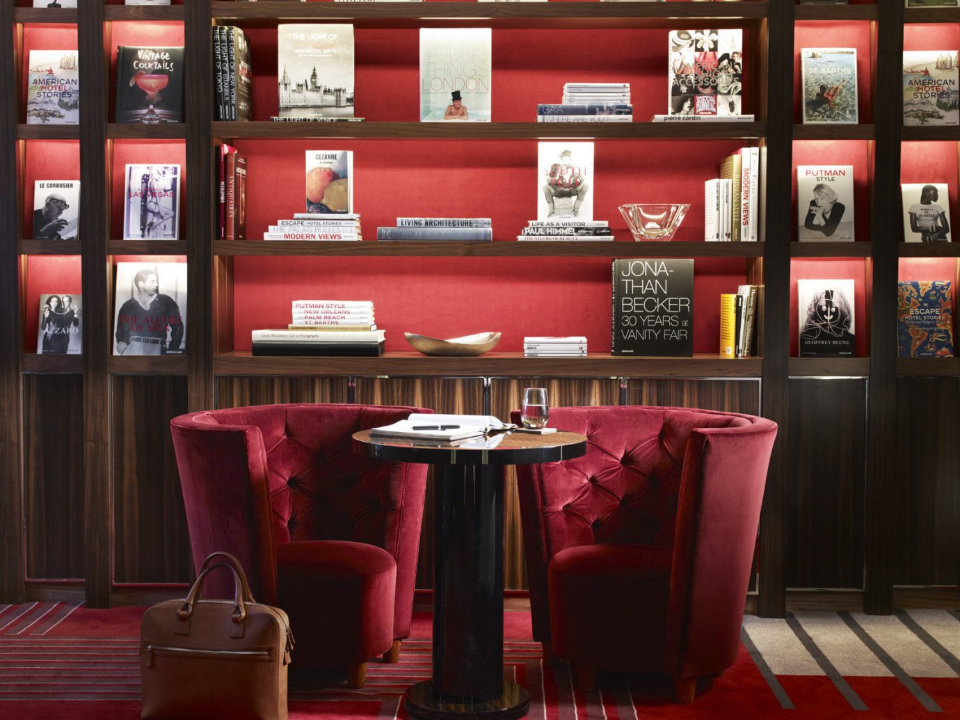 Boutique Hotels London Romantic Hotels red interior design pink restaurant Bar furniture colorful colored several