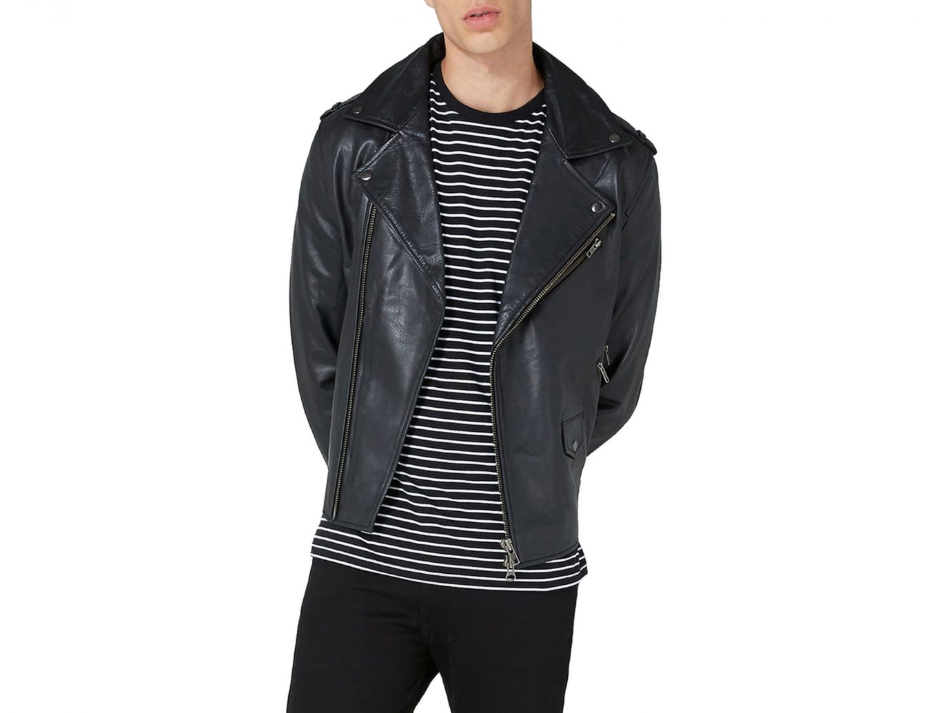 Packing Tips Style + Design Travel Shop person standing jacket leather jacket leather posing product