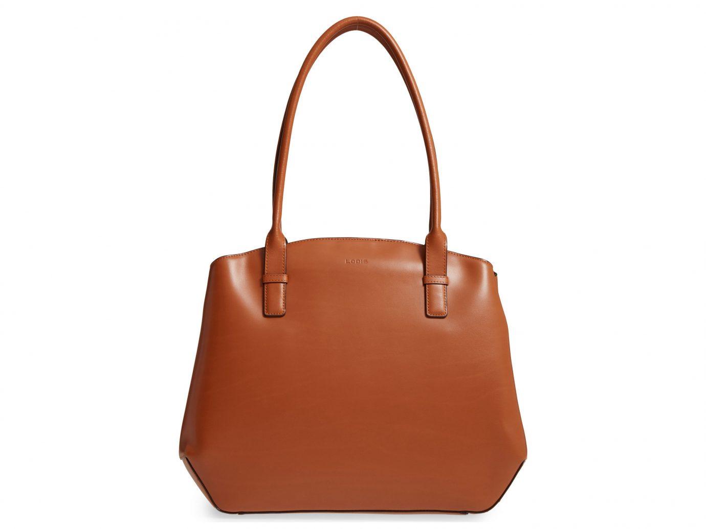 Packing Tips Style + Design Travel Shop Weekend Getaways bag handbag orange brown shoulder bag leather fashion accessory accessory caramel color product peach product design tote bag beige brand strap