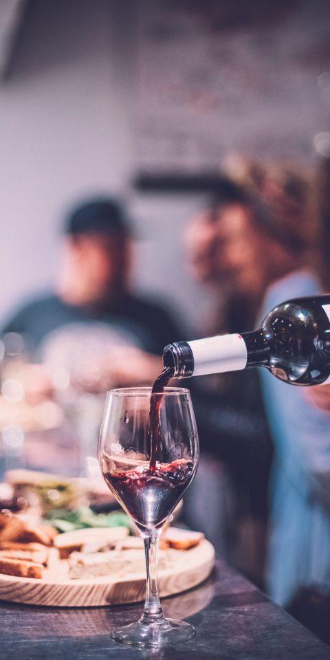 Food + Drink indoor wine blue glass alcoholic beverage food Drink wine glass sense restaurant meal beverage