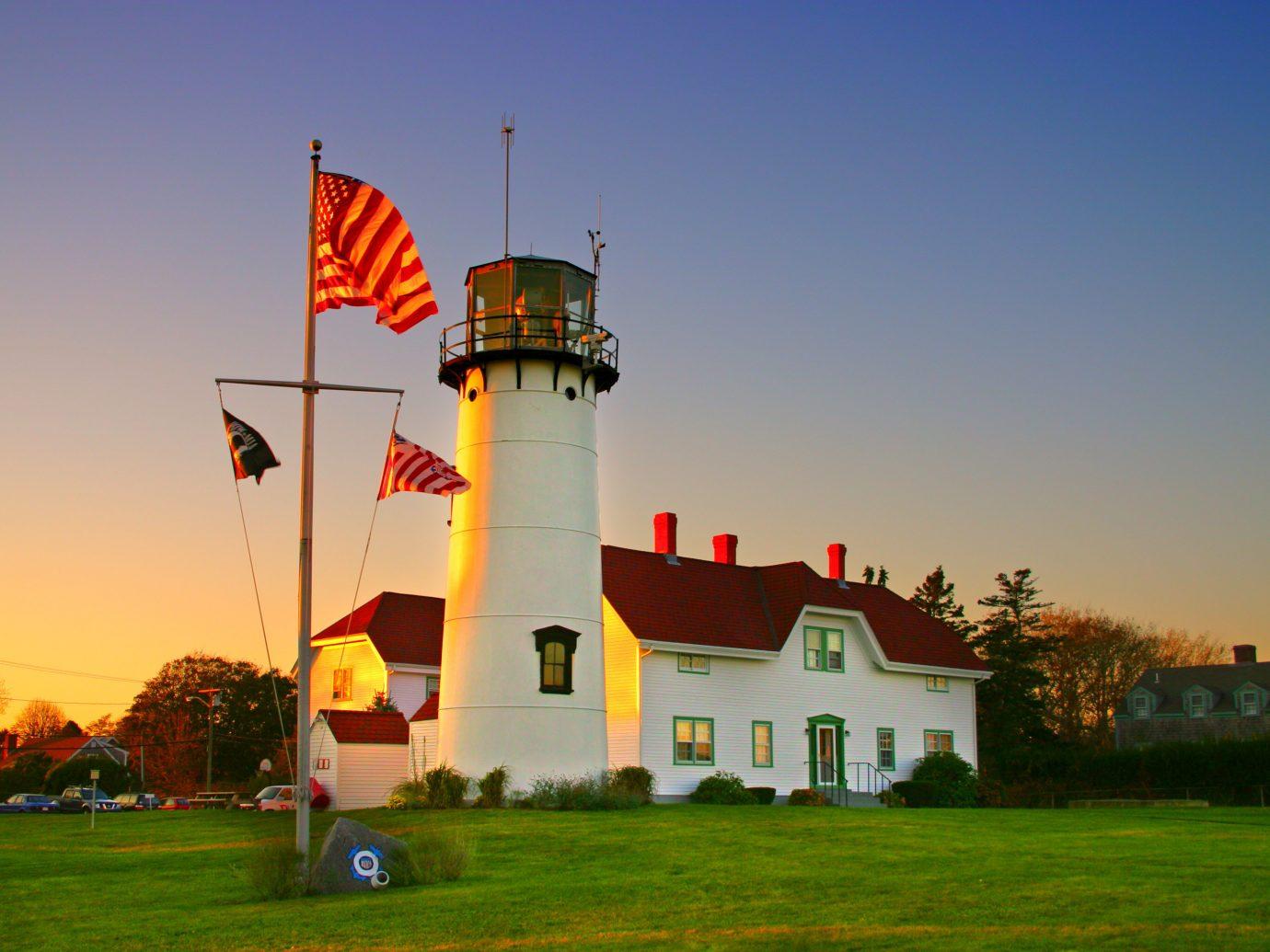 Secret Getaways Trip Ideas sky grass outdoor tower building landmark lighthouse evening dusk Sunset lush
