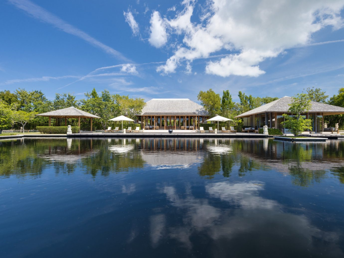 Hotels Romance outdoor sky water reflection Nature pond swimming pool estate Lake reflecting pool vacation River Resort reservoir surrounded traveling shore day