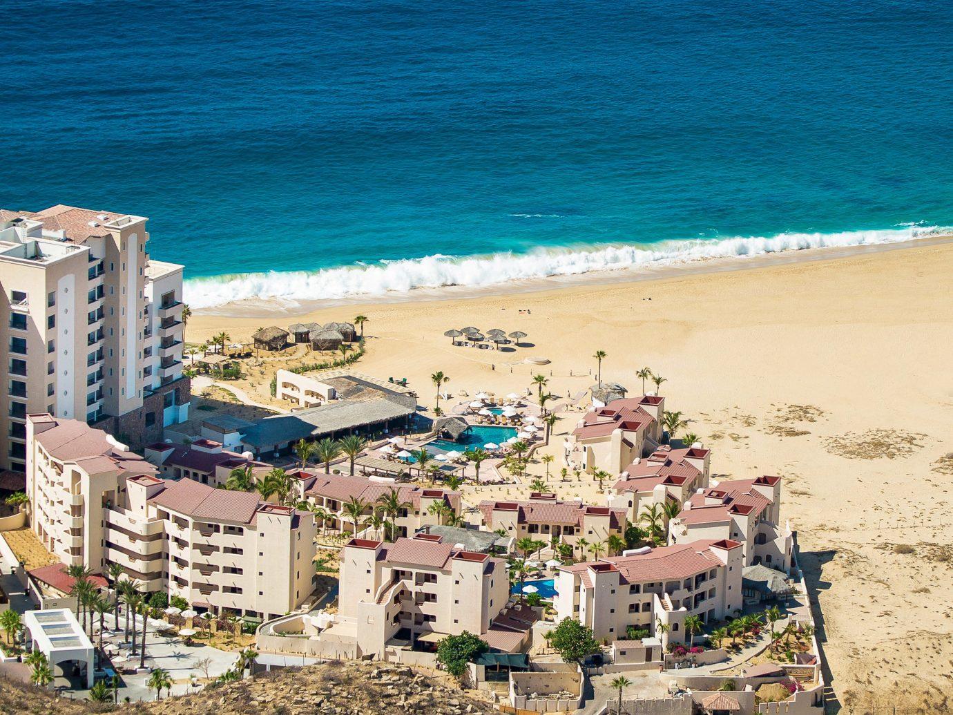 Budget Hotels water outdoor umbrella Beach Coast Sea vacation shore Ocean cape bay aerial photography