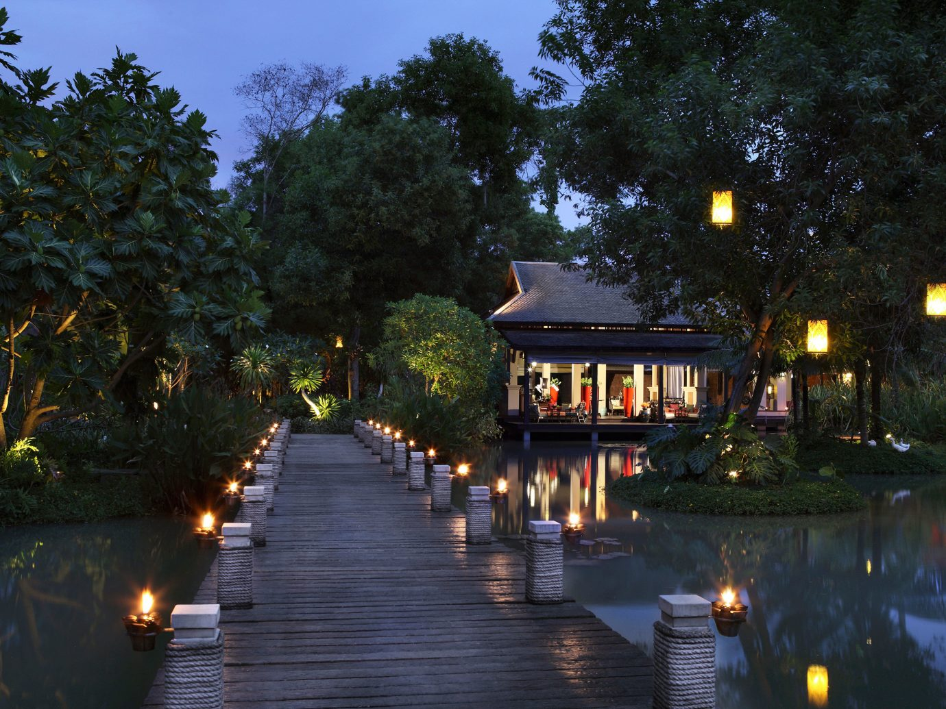 Hotels tree outdoor night reflection evening River morning estate waterway landscape lighting autumn
