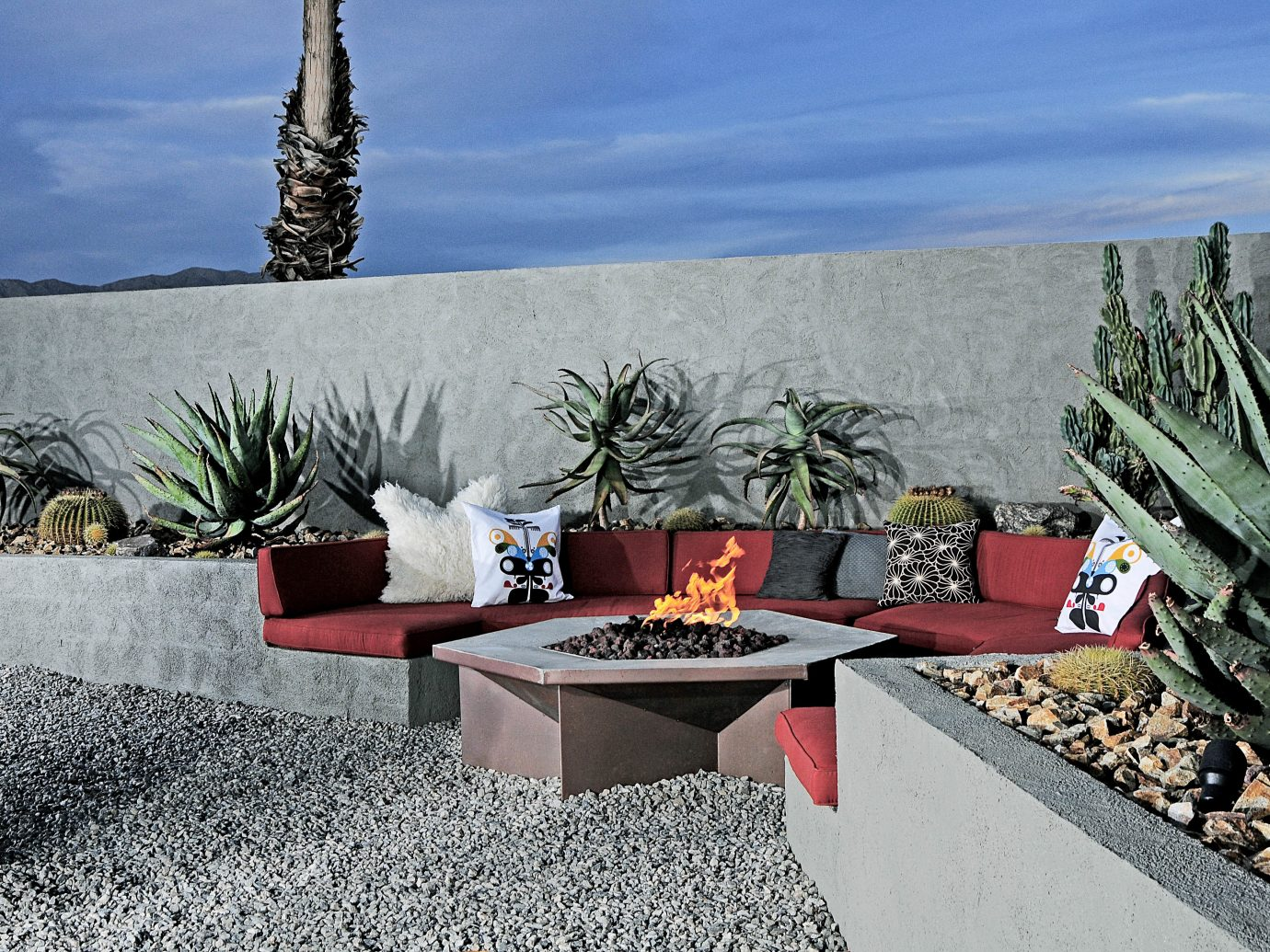 Hip Hotels Living Lounge Luxury Modern Style + Design Trip Ideas outdoor wall plant flower estate Garden stone agave