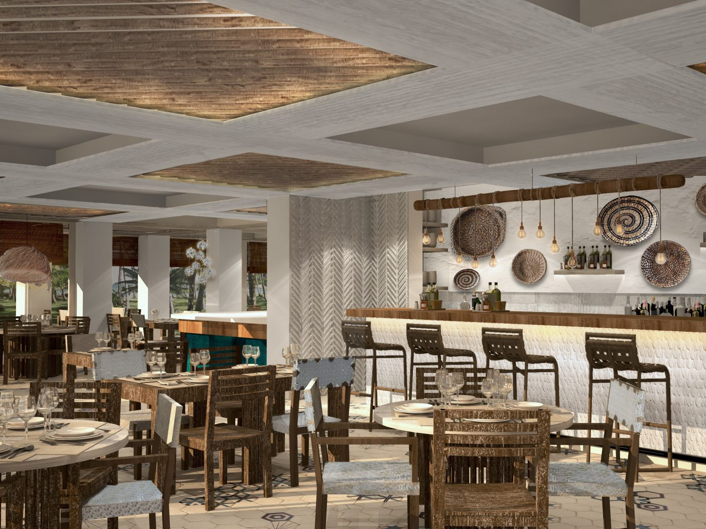 Hotels indoor ceiling chair room property estate restaurant interior design dining room furniture function hall Dining Design Lobby ballroom area wood