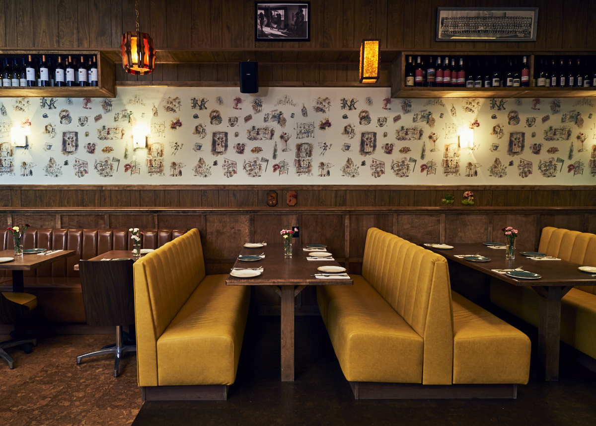 Food + Drink Trip Ideas indoor floor restaurant interior design Bar table café function hall several