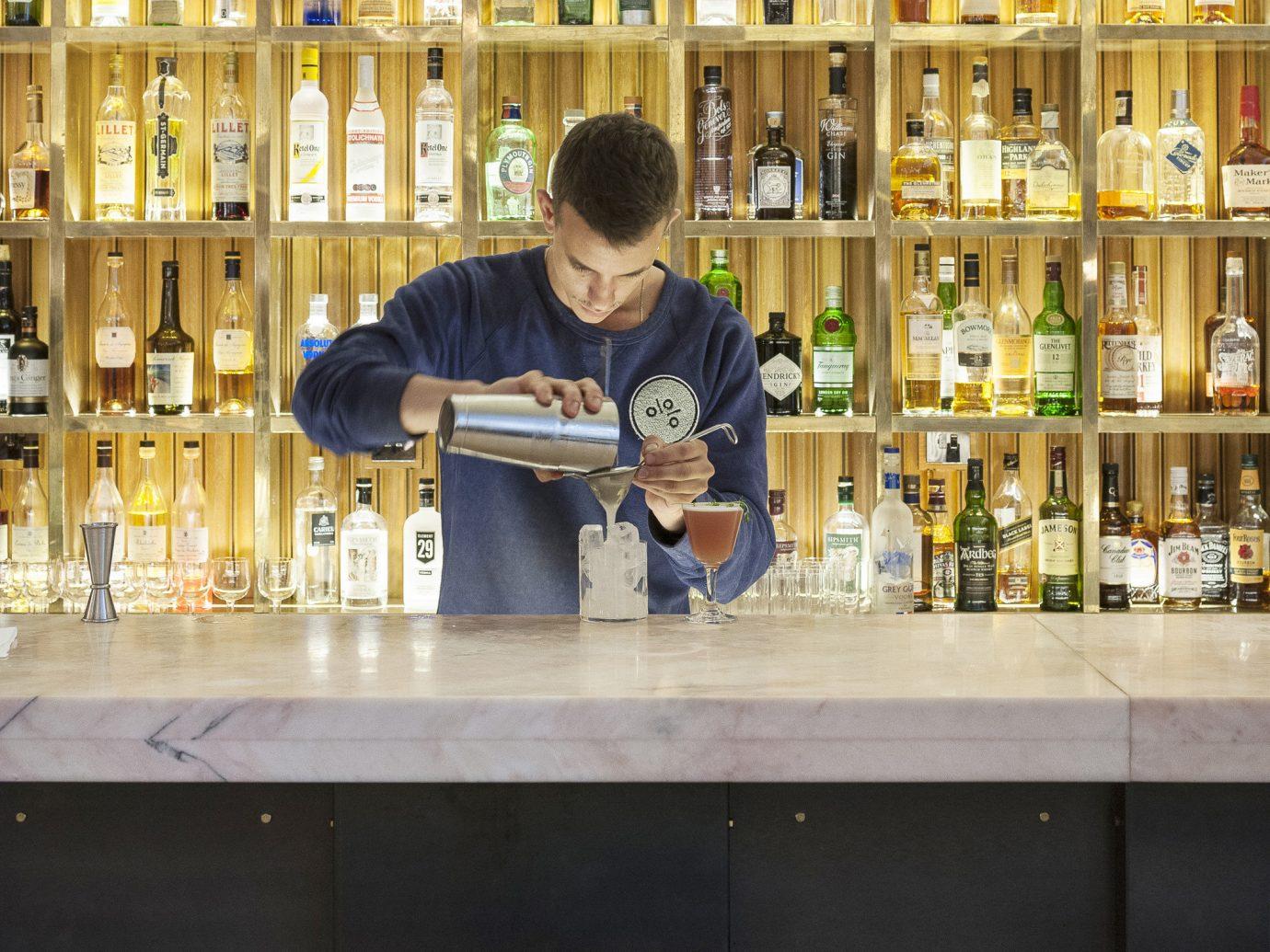 Budget Hotels London indoor person room restaurant interior design Bar Design coffeehouse store public