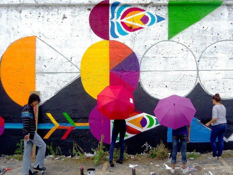 Trip Ideas color outdoor mural street art art graffiti colorful accessory colored