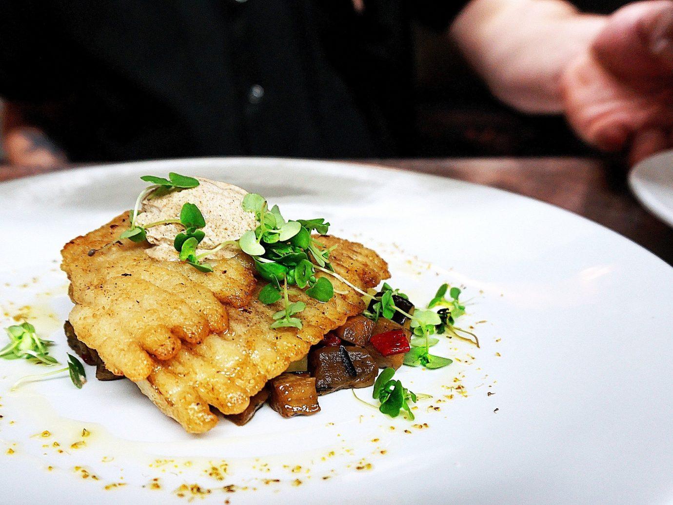 Summer Series plate food table person dish indoor meal white cuisine fish meat breakfast produce restaurant steak dinner piece de resistance