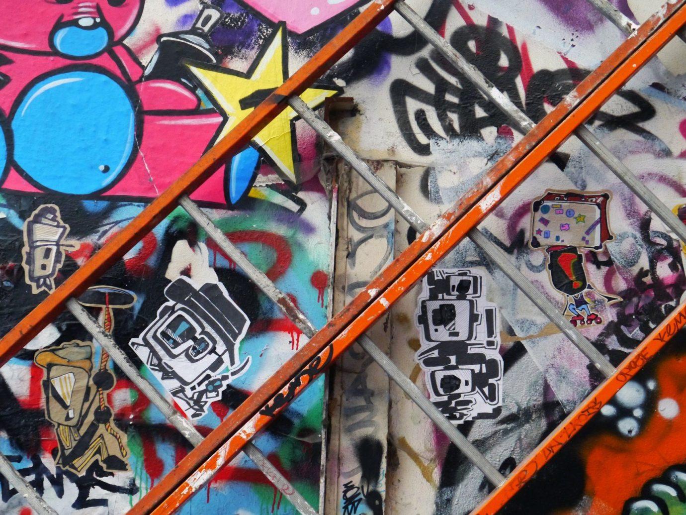 art City colorful graffiti ladders street art Trip Ideas urban