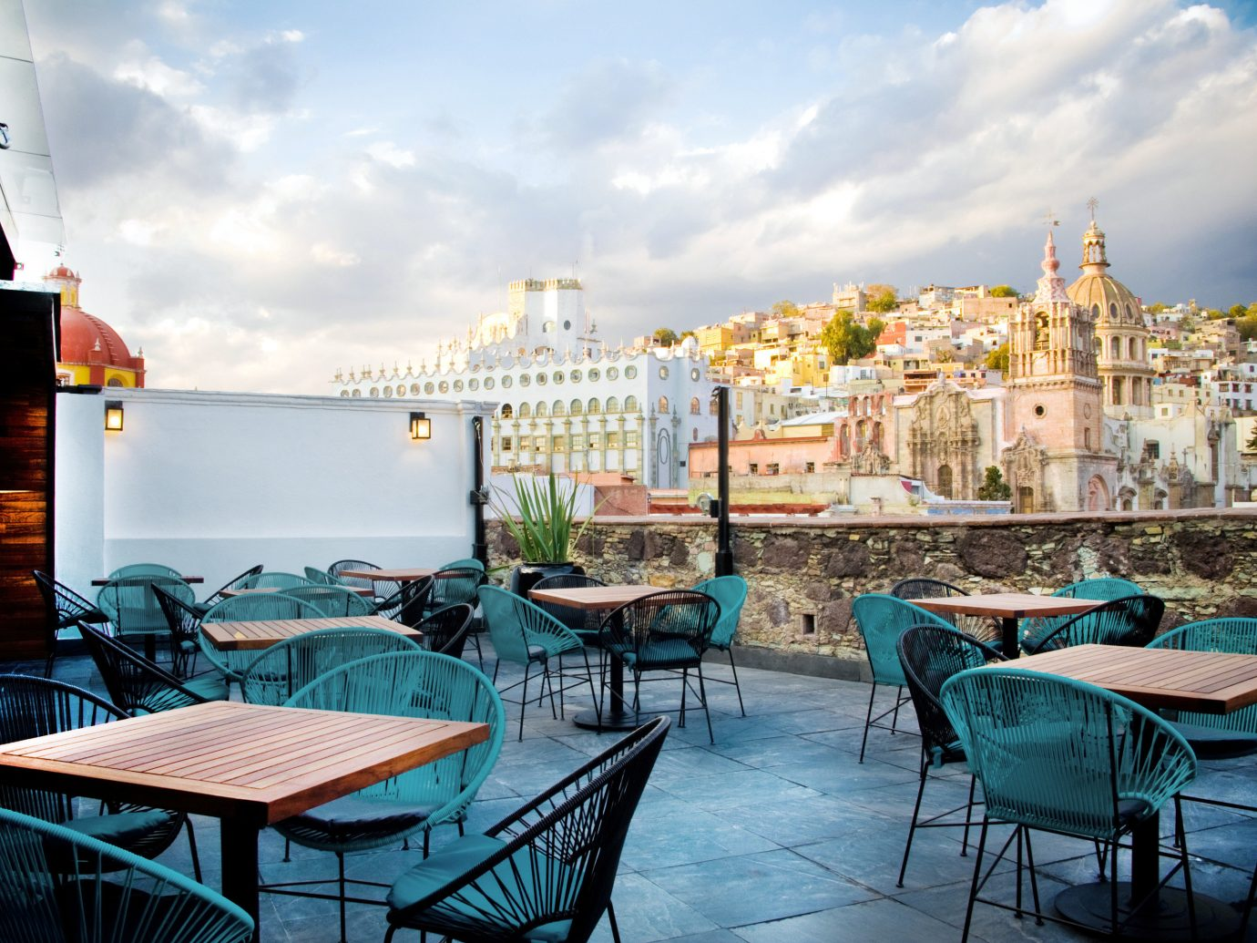 Boutique Deck Modern Patio Scenic views Trip Ideas sky chair outdoor vacation estate Resort restaurant Harbor several