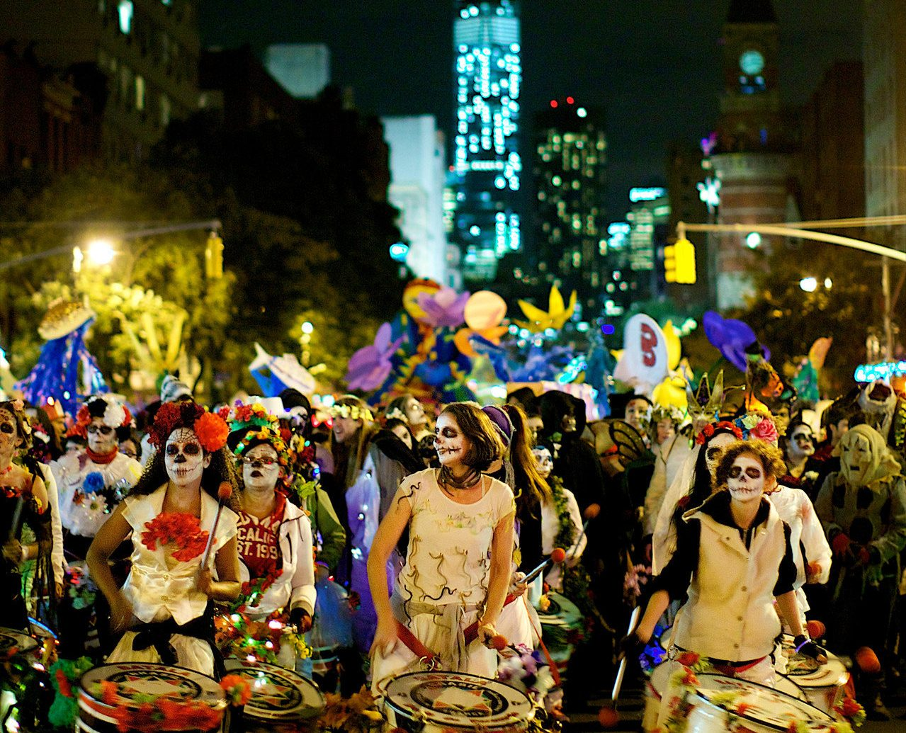 art Budget celebration costume crowd Entertainment festival festive fun Music musicians night Nightlife parade Party people street festival street musician streets street decorated